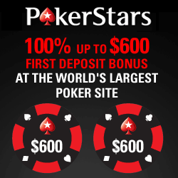 PokerStars Bonus Code for £400 Bonus