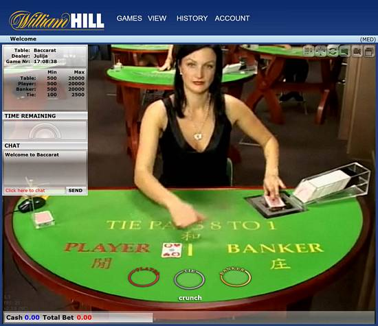 William Hill Live Casino Promo Code £50 Bonus