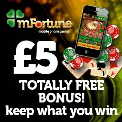 Mfortune Mobile Casino 5 No Deposit Bonus Jul 2020