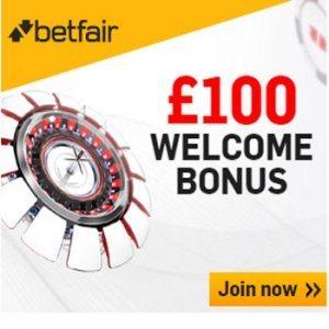 Betfair Casino Promotion Code £100