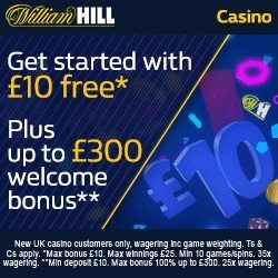 William Hill Casino Promo Code £10 No Deposit Bonus