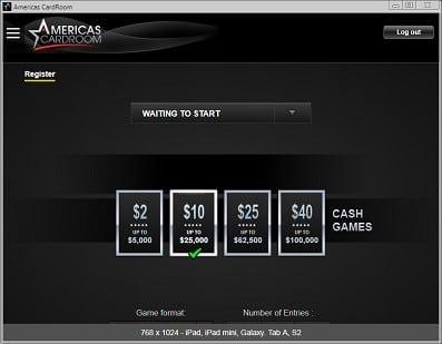Americas Cardroom Mobile