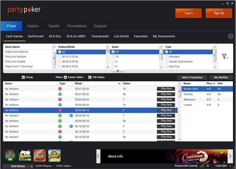 party-poker-lobby-screenshot