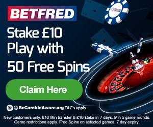 Betfred Casino Promo Code for 50 Free Spins