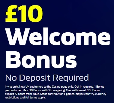 William Hill No Deposit Bonus £10 Free