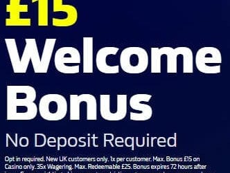 William Hill No Deposit Bonus £15 Free